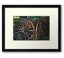 Wagon Wheels and Rust Framed Print