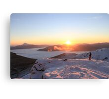 Sunrise on The Cobbler 2 Canvas Print