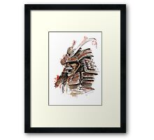 Samurai armor for sale, japanese warrior costume Framed Print