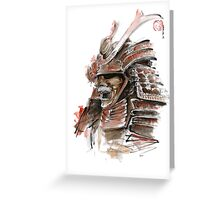 Samurai armor for sale, japanese warrior costume Greeting Card