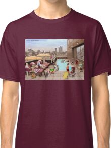 Art Deco Rooftop Chillout Classic T-Shirt