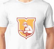 Home Insulation Technician Retro Shield Unisex T-Shirt