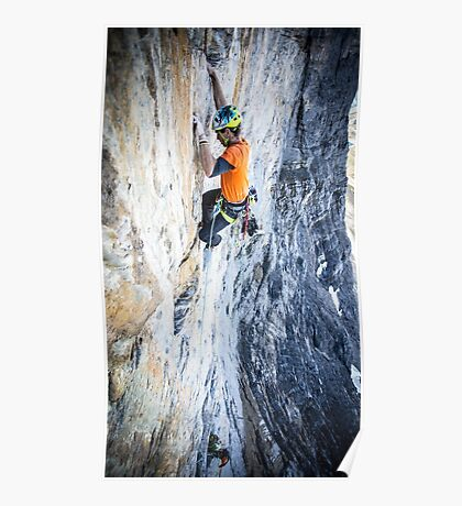 Rock Climbing on The Eiger Poster