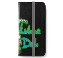 Wubba Lubba Dab Dab Rick - BAPE Variant Black Background with Glow iPhone Wallet/Case/Skin