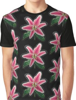 Lily Flower Graphic T-Shirt