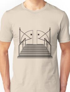 Doorway to House Starck - Black on Clear Unisex T-Shirt