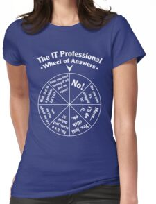 The IT Professional Wheel of Answers. Womens Fitted T-Shirt