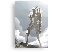 Shadow of the colossus inspired painting Metal Print