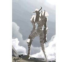 Shadow of the colossus inspired painting Photographic Print