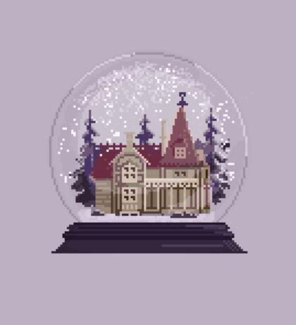It's Christmas Time - Pixel Art Snow Globe Sticker