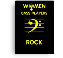Women Bass Players Rock Canvas Print