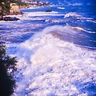 Huge wave in Ligurian Sea by Silvia Ganora