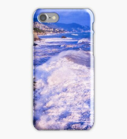 Huge wave in Ligurian Sea iPhone Case/Skin