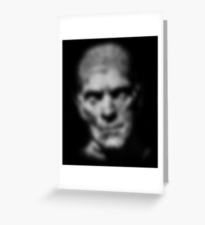 Mummy Monster Boris Karloff Design Greeting Card