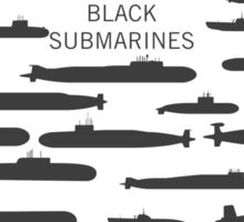 Little black submarines Sticker