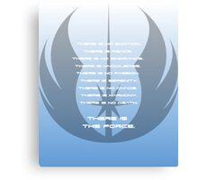 Code of the Jedi Canvas Print