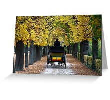 Fiacre In Chestnut Alley Greeting Card