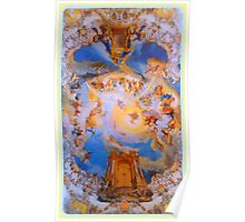 Ceiling fresco of the Wieskirche Poster