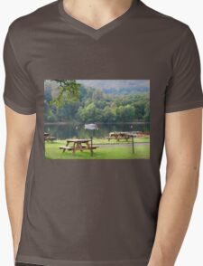 Beer garden Mens V-Neck T-Shirt