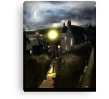 "The ""Hie Gait"" : Dysart, Fife in Scotland [Digital Architecture Illustration] Canvas Print"