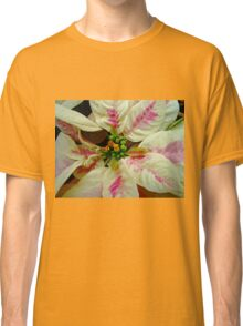 Ivory And Pink Pointsettia Classic T-Shirt