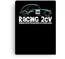 Lumaca Racing 2CV Canvas Print
