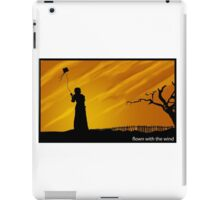 flown with the wind iPad Case/Skin