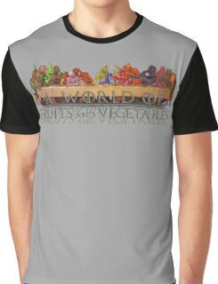 A World of Fruits & Vegetables Graphic T-Shirt