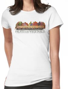 A World of Fruits & Vegetables Womens Fitted T-Shirt