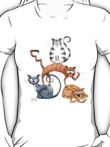 Kazart Cat Stack Tshirt T-Shirt