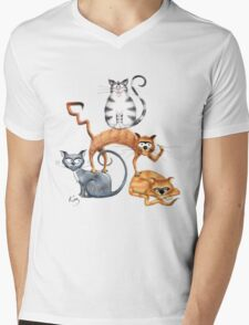 Kazart Cat Stack Tshirt T-Shirt