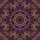 Purple Mandala Hippie Pattern by Pixie Copley LRPS
