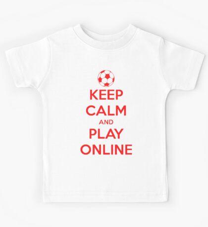 keep calm and play online. Kids Tee