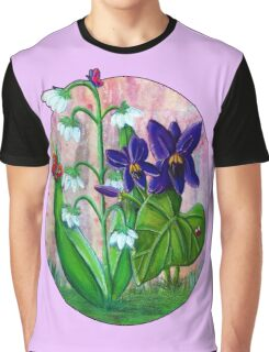 Violet and Lily of the Valley [Patch] Graphic T-Shirt