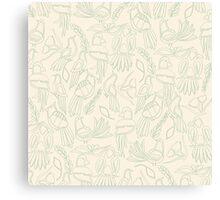 Birds in Green Paradise Canvas Print