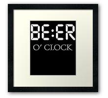 Beer oclock Framed Print