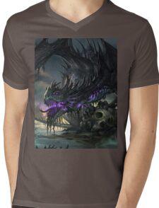 Undead Dragon Mens V-Neck T-Shirt