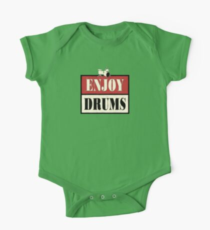 Enjoy Drums Old Sign One Piece - Short Sleeve