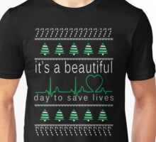 It's a beautiful day to save lives Christmas T shirt Unisex T-Shirt