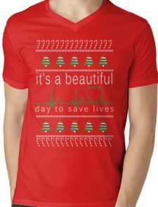 It's a beautiful day to save lives Christmas T shirt Mens V-Neck T-Shirt