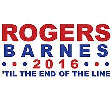 Steve Rogers for President Photographic Print