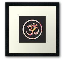 Om Aum Ohm Namaste Yoga Spiritual Hinduism Symbol Framed Print