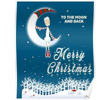 Merry Christmas To The Moon And Back  Poster