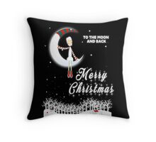 Merry Christmas To The Moon And Back Throw Pillow