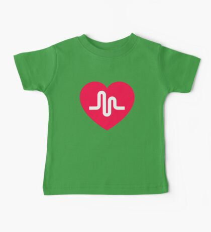 Musically musical.ly musicly heart Baby Tee