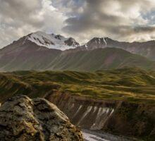 Dramatic Scenery in Kyrgyzstan Sticker
