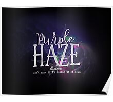 Hendrix Purple Haze Poster