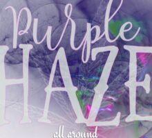Hendrix Purple Haze Sticker