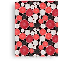 Graphic pattern of wood cuts Canvas Print