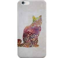 spotty cat iPhone Case/Skin